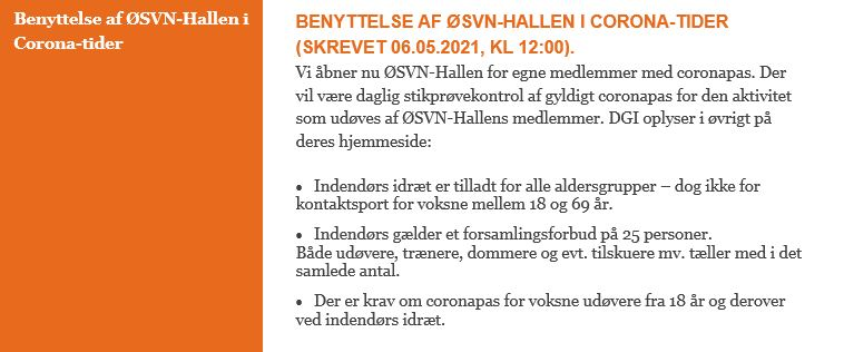 ØSVN-Hallen_HjemmesideInfoMaj2021_02_coronaOgHallen